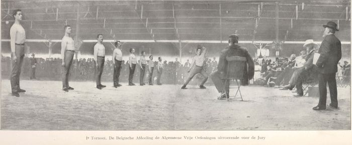 Gymnasts at the 1903 World Championships in Antwerp (BEL).