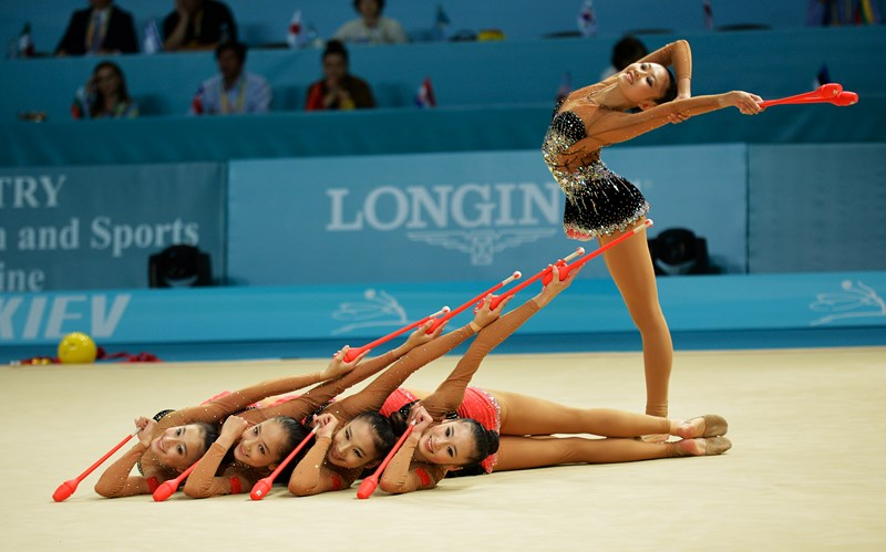 Team China performing at the 2013 World Championships in Kiev (UKR).