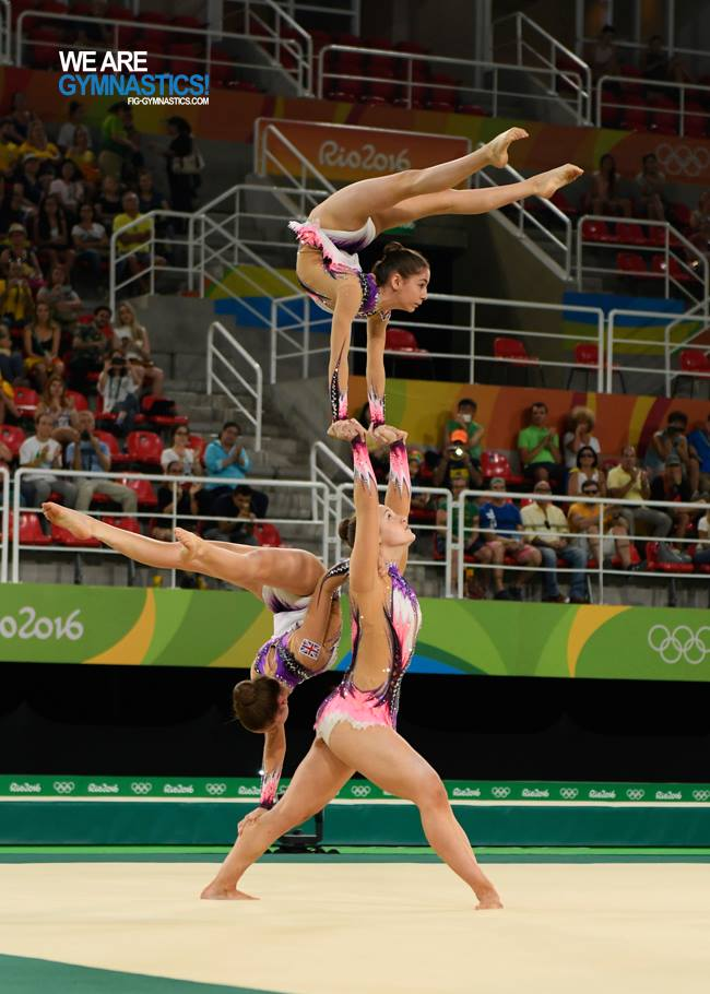 Acrobatic gymnasts lit up the FIG Olympic Gala earlier this month in Rio de Janeiro.