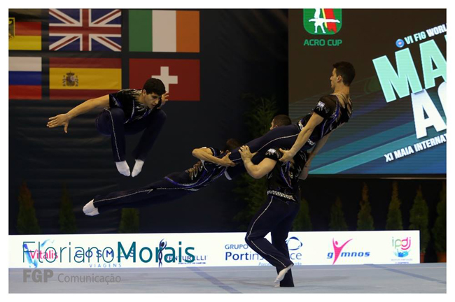 The Israel Men's Group. Photo courtesy of the Portugese Gymnastics Federation.