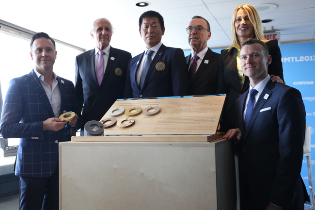 The World Championships medals were unveiled during the press conference.