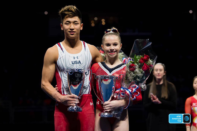 The U.S.'s Yul Moldauer and Ragan Smith grabbed the AT&T American Cup titles Saturday in Newark (USA).