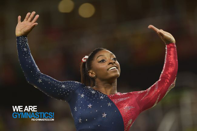 Simone Biles (USA) at the Rio 2016 Olympic Games