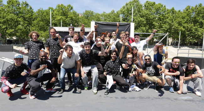 All the participants around Charles Perrière, Morinari Watanabe and David Belle. All photos: Art Fact
