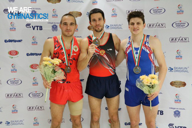Men's Double Mini-trampoline podium