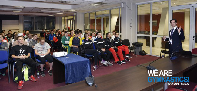 The athletes' assembly at the World Championships in Sofia (BUL)