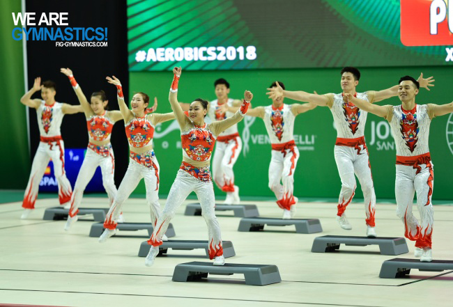 Aerobic Step team China
