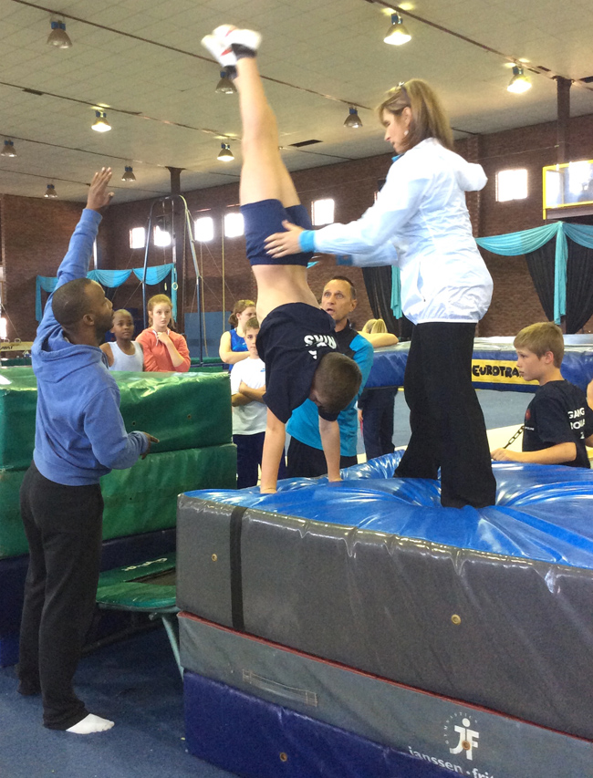 Trampoline training camp in Pretoria