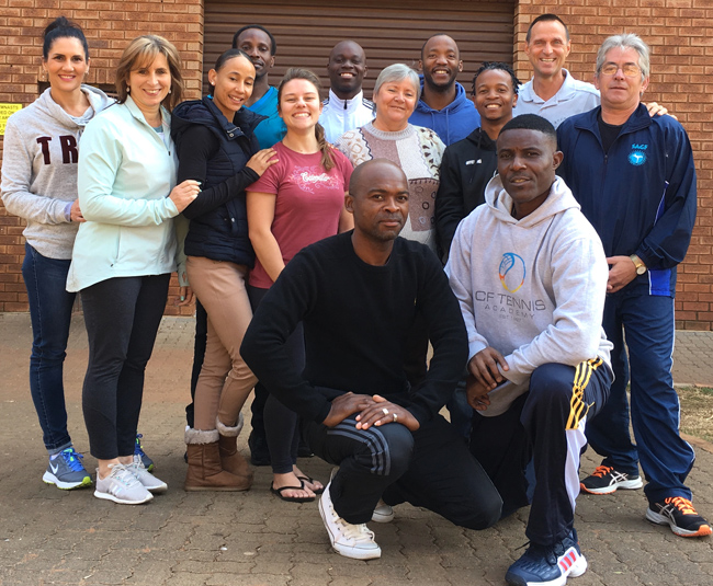 13 coaches took part in the Trampoline training camp in Pretoria.