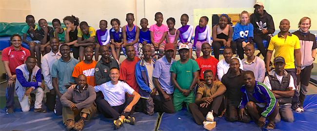 21 coaches attended the training camp with ten of their personal gymnasts in Harare.