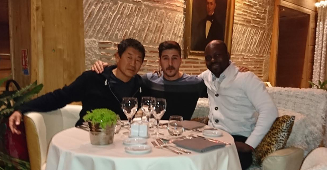 Morinari Watanabe, David Belle and Charles Perrière in Paris.